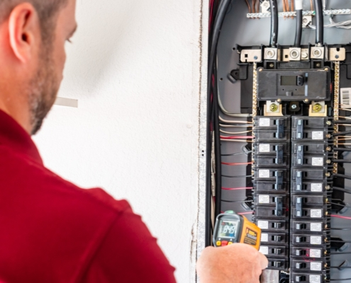 Inspecting Electrical wiring and panels